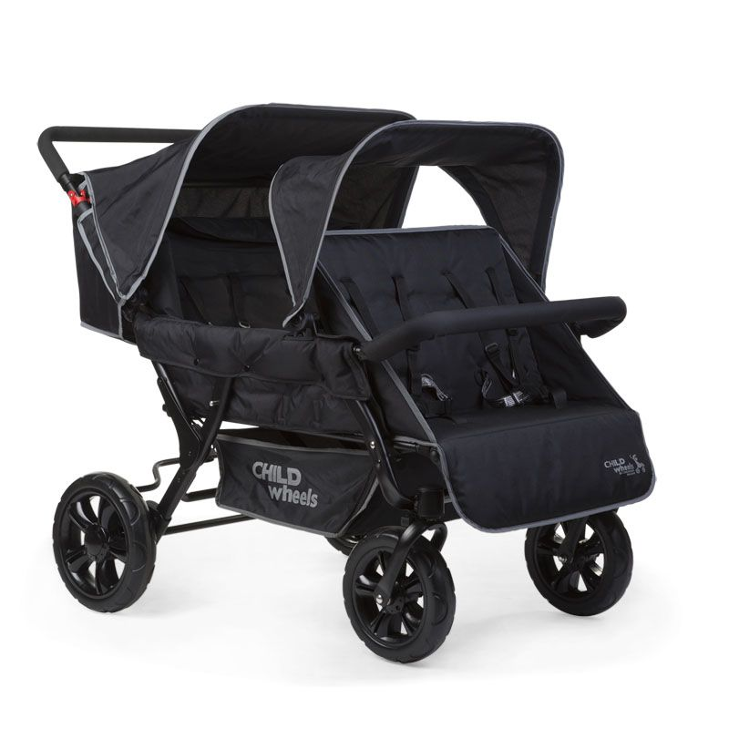 Childwheels two by two Vierlingswagen 4-Sitzer (CHILDHOME) 5