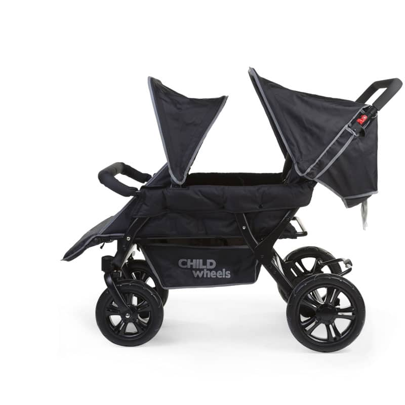 Childwheels two by two Vierlingswagen 4-Sitzer (CHILDHOME) 6