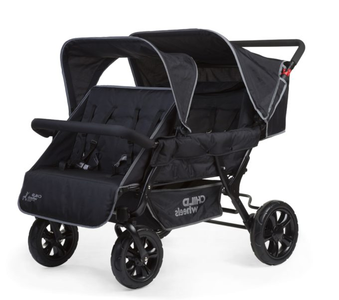 Childwheels two by two Vierlingswagen 4-Sitzer (CHILDHOME) 1