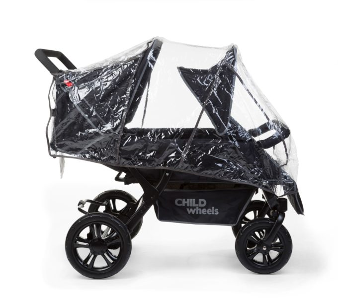 CHILDHOME (Childwheels) two by two Vierlingswagen 4-Sitzer 4