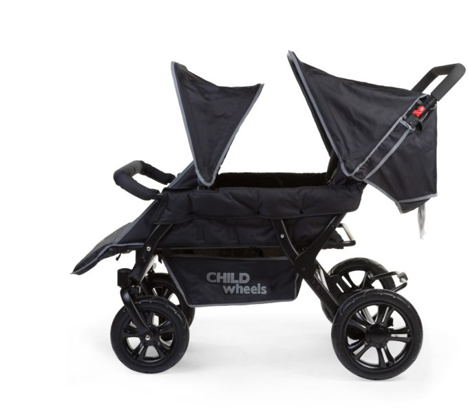 Childwheels two by two Vierlingswagen 4-Sitzer (CHILDHOME) 3