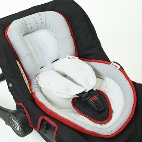 Anatomisches Kissen + Gürtelschlaufen für Familidoo Kinderwagen 2