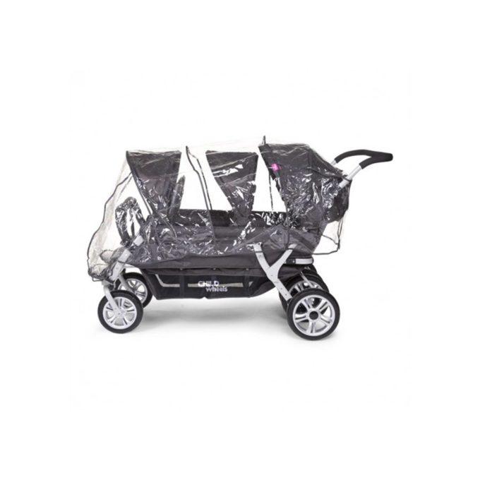 Regenschutz für CHILDHOME Sechslingswagen CWRCSIX 1