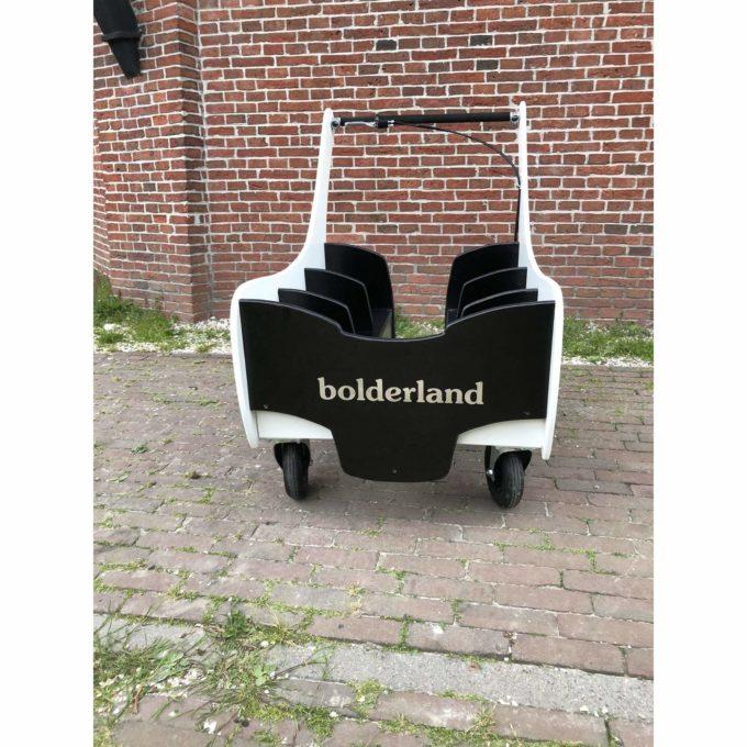 Bolderland Krippenwagen 6-Sitzer Christof - schwarz/weiß 2
