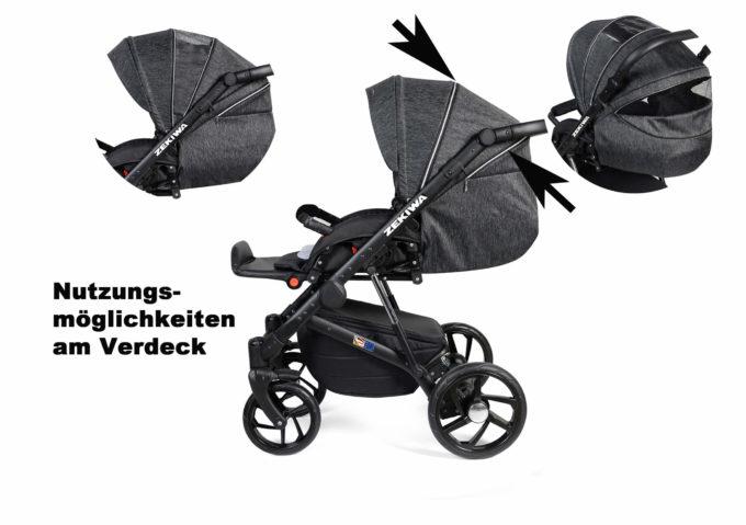 Zekiwa Kombikinderwagen Premium (Silber/Graphit) 13