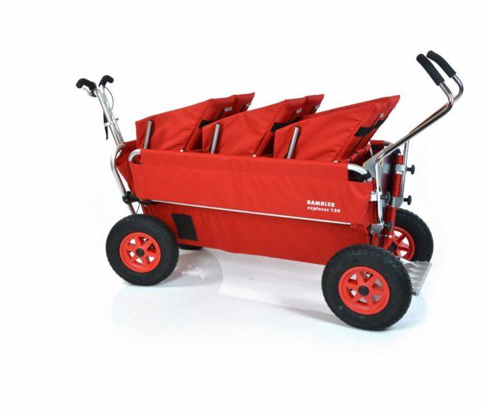 Rambler Explorer 120 (für 7 Kinder) - 3 Duo-Babysitze + Trittbrett 16