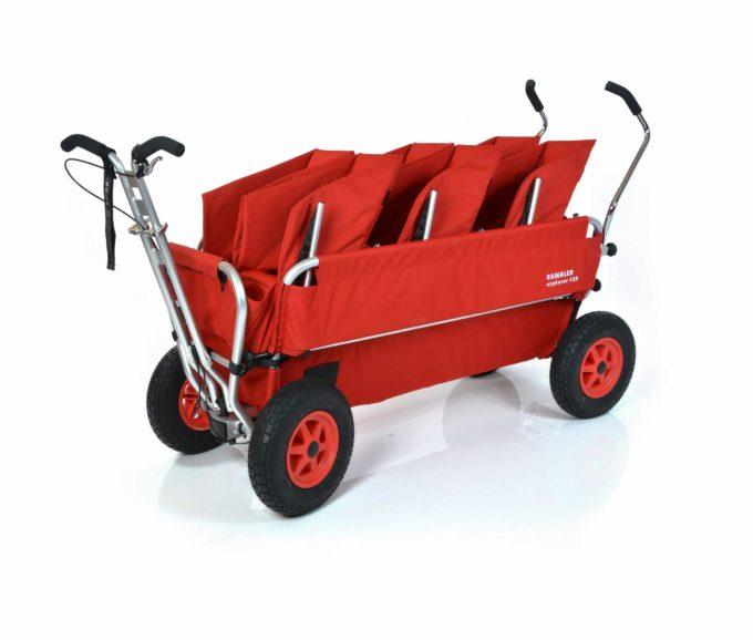 Rambler Explorer 120 (für 7 Kinder) - 3 Duo-Babysitze + Trittbrett 2