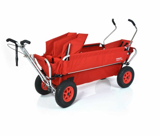 Rambler Explorer 120 (für 7 Kinder) - 1 Duo-Babysitz + 1 Kindersitz + hinterer Rahmen 2