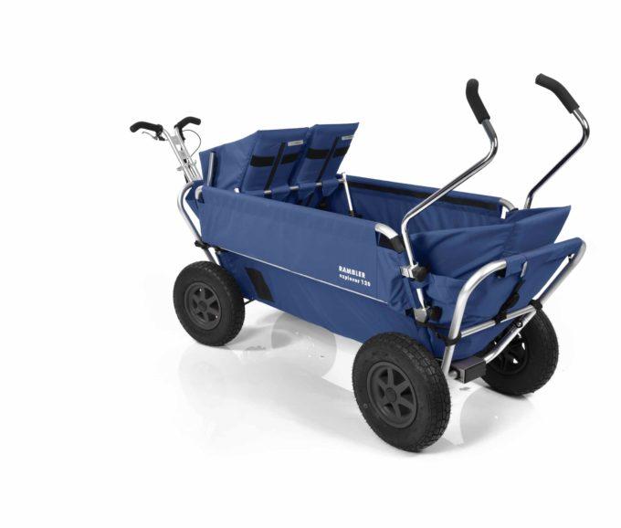 Rambler Explorer 120 (für 7 Kinder) - 1 Duo-Babysitz + 1 Kindersitz + hinterer Rahmen 20