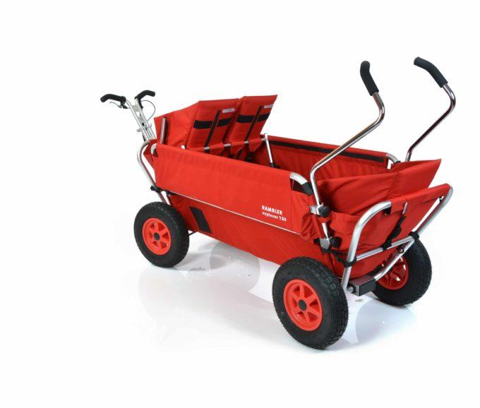 Rambler Explorer 120 (für 7 Kinder) - 1 Duo-Babysitz + 1 Kindersitz + hinterer Rahmen 9