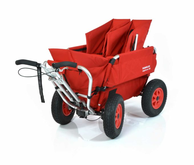Rambler Explorer 65 + Kindersitz + Duo-Babysitz + Trittbrett 1