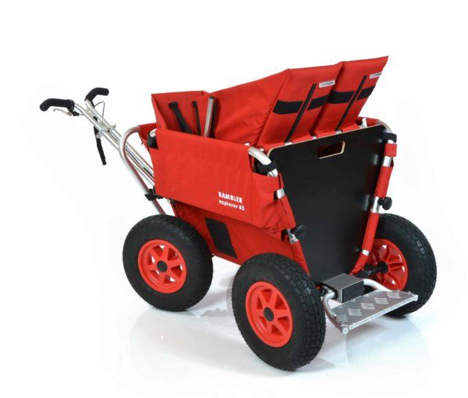 Rambler Explorer 65 + Kindersitz + Duo-Babysitz + Trittbrett 32