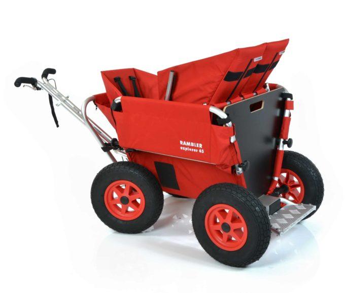Rambler Explorer 65 + Kindersitz + Duo-Babysitz + Trittbrett 33