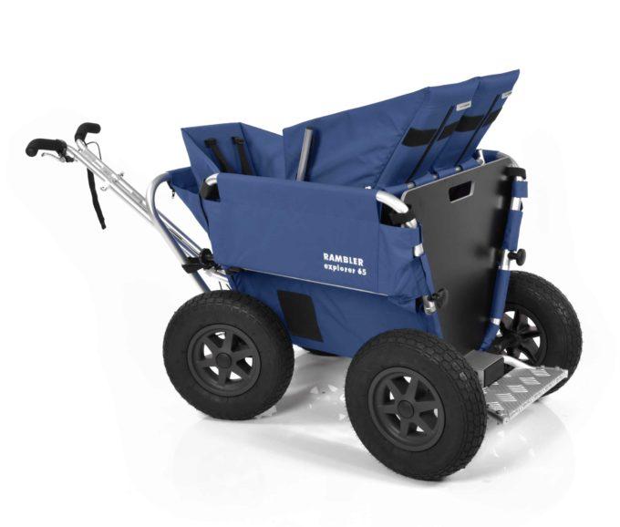 Rambler Explorer 65 + Kindersitz + Duo-Babysitz + Trittbrett 17