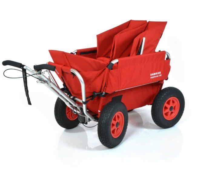 Rambler Explorer 65 + Kindersitz + Duo-Babysitz + Trittbrett 20