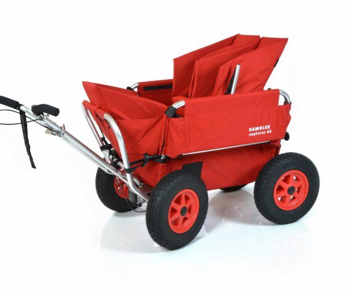 Rambler Explorer 65 + Kindersitz + Duo-Babysitz + Trittbrett 21