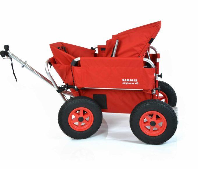Rambler Explorer 65 (für 4 Kinder) + 1 Kindersitz + 1 Duo-Babysitz + Trittbrett 24