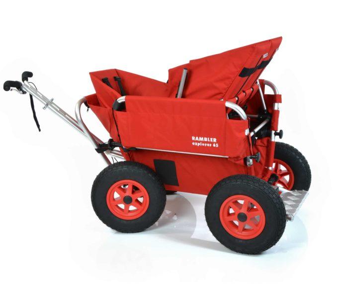 Rambler Explorer 65 + Kindersitz + Duo-Babysitz + Trittbrett 25