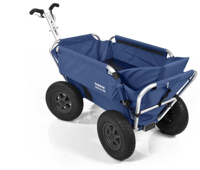 Rambler Explorer 80 + Hinterer Rahmen + Kindersitz 21