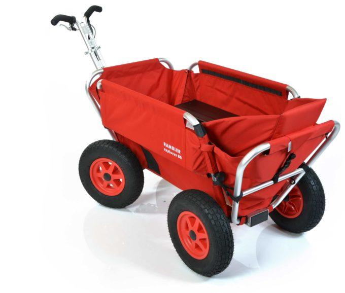 Rambler Explorer 80 (für 6 Kinder) + 1 Kindersitz + Hinterer Rahmen 10