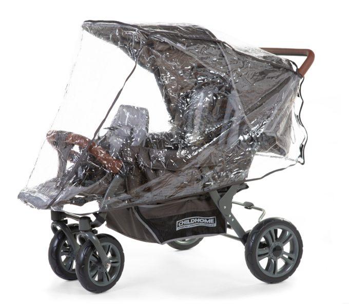 Regenschutz für Childwheels Triplets (Drillingswagen) 1