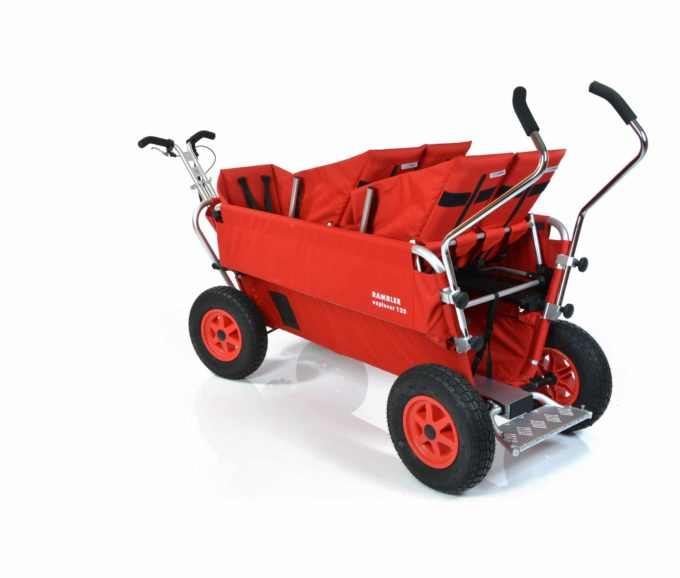 Rambler Explorer 120 (für 8 Kinder) - 2 Duo-Babysitze + 1 Kindersitz + Trittbrett 10