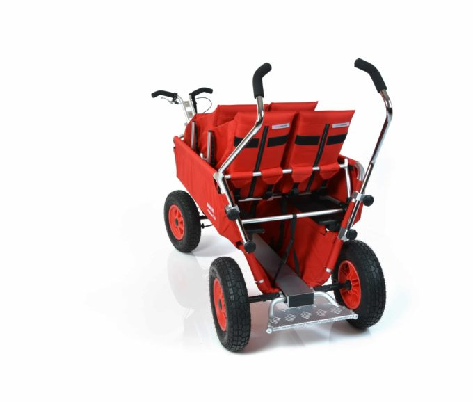 Rambler Explorer 120 (für 8 Kinder) - 2 Duo-Babysitze + 1 Kindersitz + Trittbrett 12