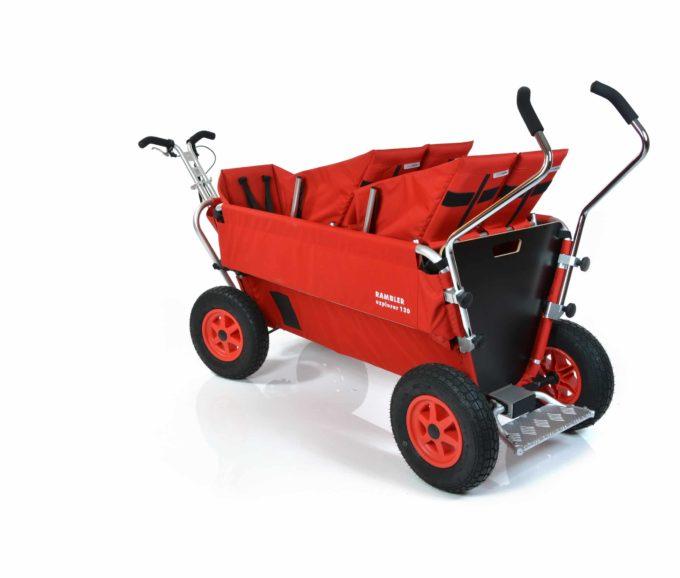Rambler Explorer 120 (für 8 Kinder) - 2 Duo-Babysitze + 1 Kindersitz + Trittbrett 15