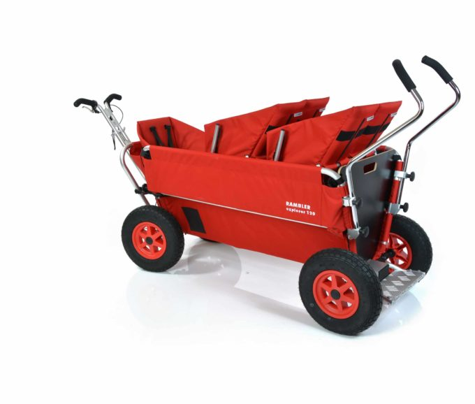 Rambler Explorer 120 (für 8 Kinder) - 2 Duo-Babysitze + 1 Kindersitz + Trittbrett 16