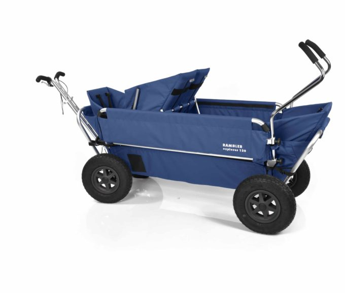 Rambler Explorer 120 (für 7 Kinder) - 1 Duo-Babysitz + 2 Kindersitze + hinterer Rahmen 18