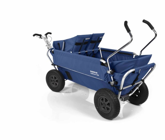 Rambler Explorer 120 (für 7 Kinder) - 1 Duo-Babysitz + 2 Kindersitze + hinterer Rahmen 20