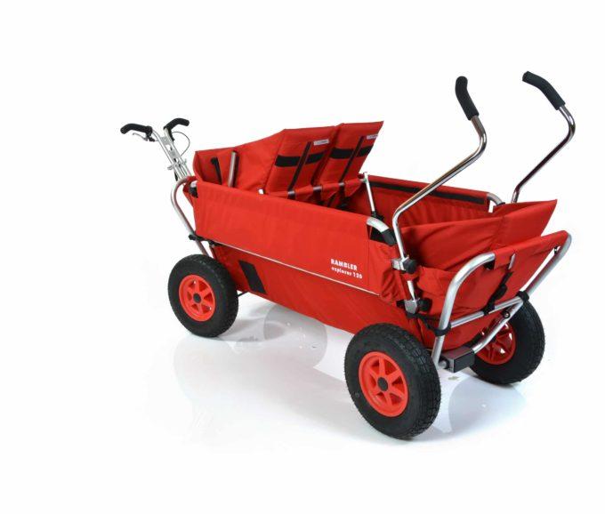 Rambler Explorer 120 (für 7 Kinder) - 1 Duo-Babysitz + 2 Kindersitze + hinterer Rahmen 9