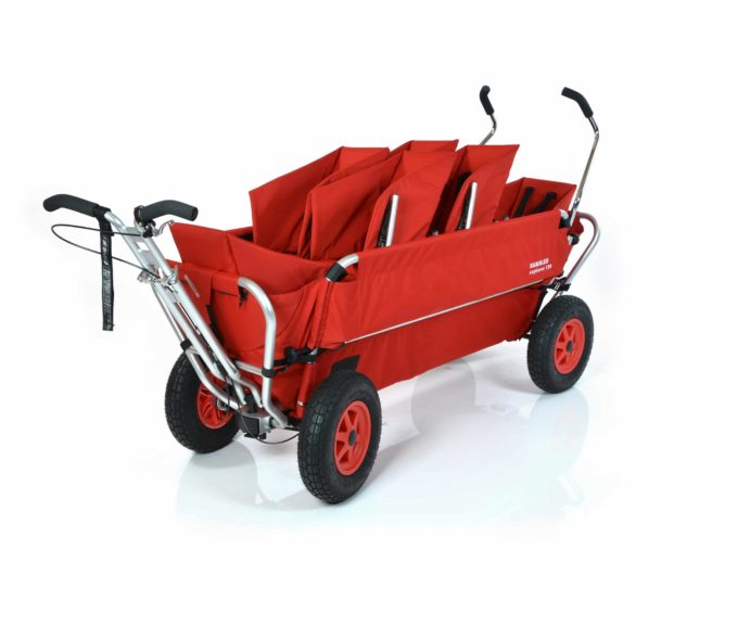 Rambler Explorer 120 (für 6 Kinder) - 2 Duo-Babysitze + 2 Kindersitze + hinterer Rahmen 1