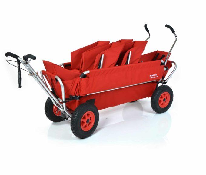 Rambler Explorer 120 (für 6 Kinder) - 2 Duo-Babysitze + 2 Kindersitze + hinterer Rahmen 2