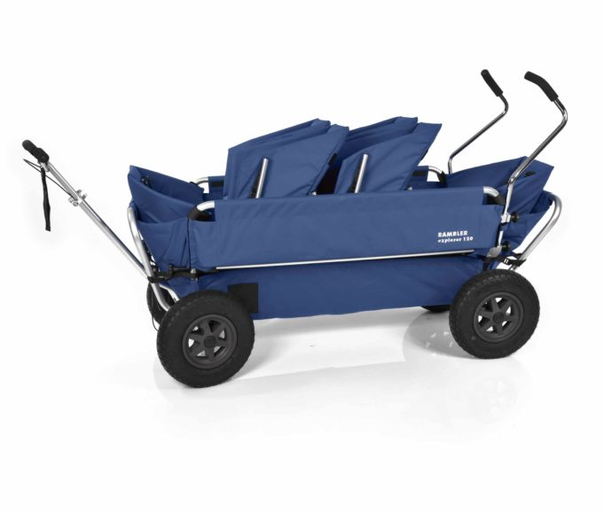 Rambler Explorer 120 (für 6 Kinder) - 2 Duo-Babysitze + 2 Kindersitze + hinterer Rahmen 15