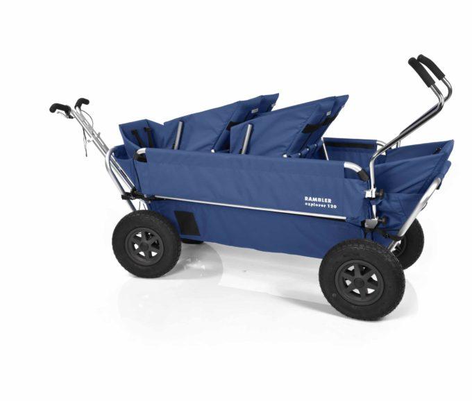 Rambler Explorer 120 (für 6 Kinder) - 2 Duo-Babysitze + 2 Kindersitze + hinterer Rahmen 18