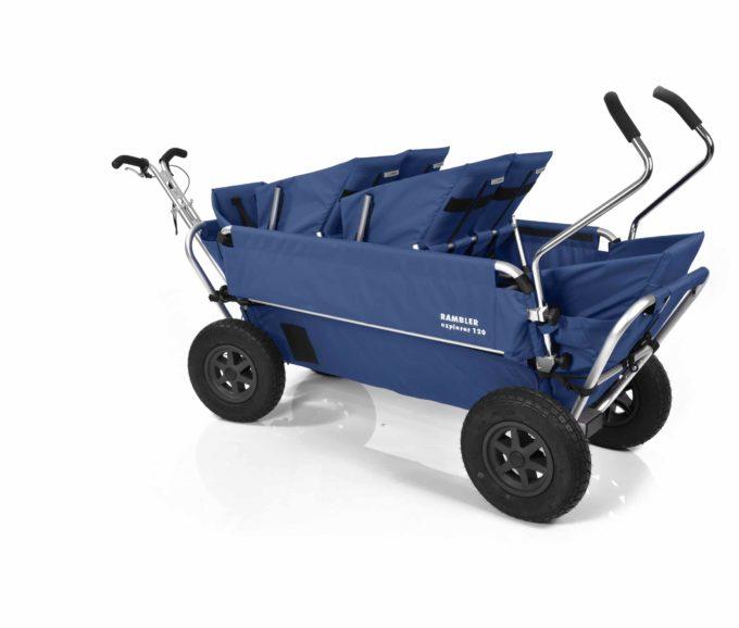 Rambler Explorer 120 (für 6 Kinder) - 2 Duo-Babysitze + 2 Kindersitze + hinterer Rahmen 19