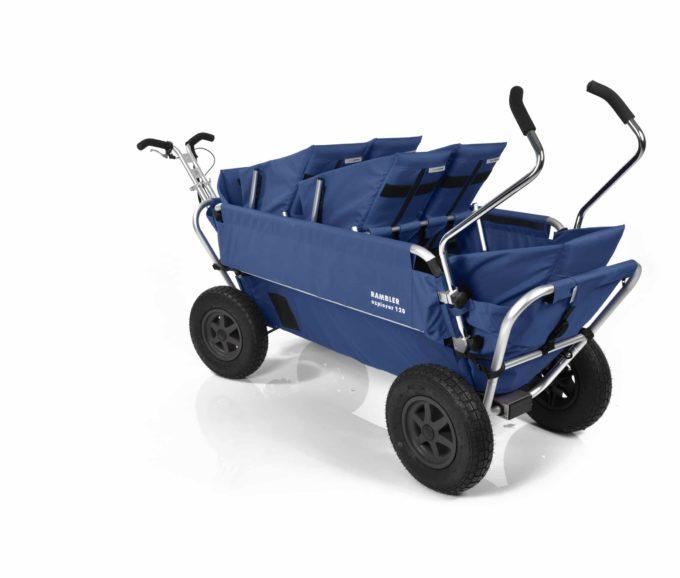 Rambler Explorer 120 (für 6 Kinder) - 2 Duo-Babysitze + 2 Kindersitze + hinterer Rahmen 20