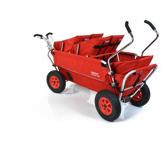 Rambler Explorer 120 (für 6 Kinder) - 2 Duo-Babysitze + 2 Kindersitze + hinterer Rahmen 9