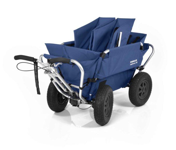 Rambler Explorer 65 (für 4 Kinder) + 2 Kindersitze + 1 Duo-Babysitz + Hinterer Rahmen 12