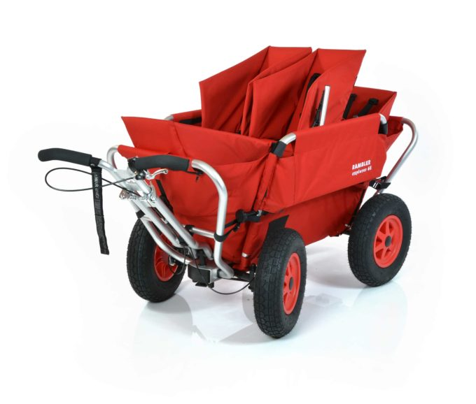 Rambler Explorer 65 (für 4 Kinder) + 2 Kindersitze + 1 Duo-Babysitz + Hinterer Rahmen 1