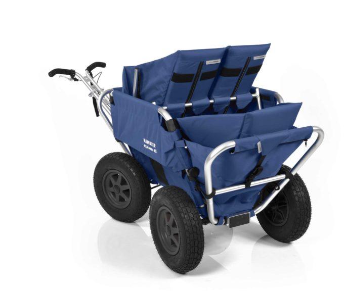 Rambler Explorer 65 (für 4 Kinder) + 2 Kindersitze + 1 Duo-Babysitz + Hinterer Rahmen 21