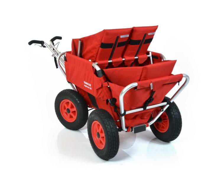 Rambler Explorer 65 (für 4 Kinder) + 2 Kindersitze + 1 Duo-Babysitz + Hinterer Rahmen 10