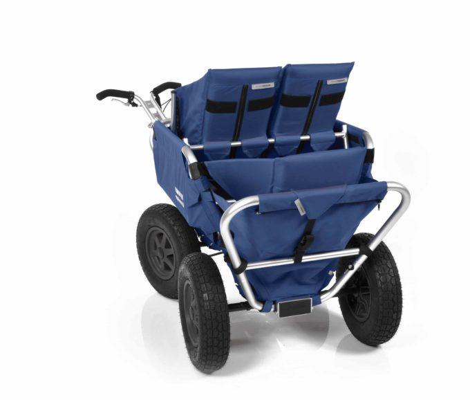 Rambler Explorer 65 (für 4 Kinder) + 2 Kindersitze + 1 Duo-Babysitz + Hinterer Rahmen 22