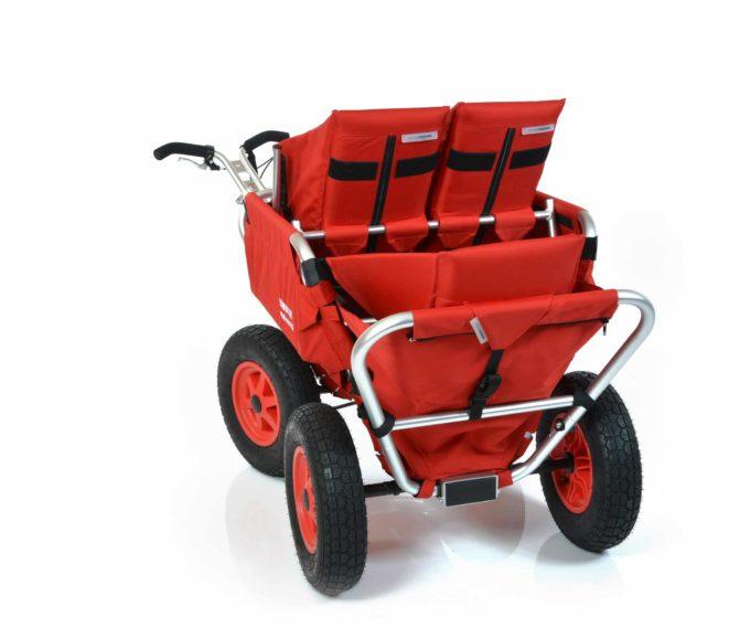 Rambler Explorer 65 (für 4 Kinder) + 2 Kindersitze + 1 Duo-Babysitz + Hinterer Rahmen 11