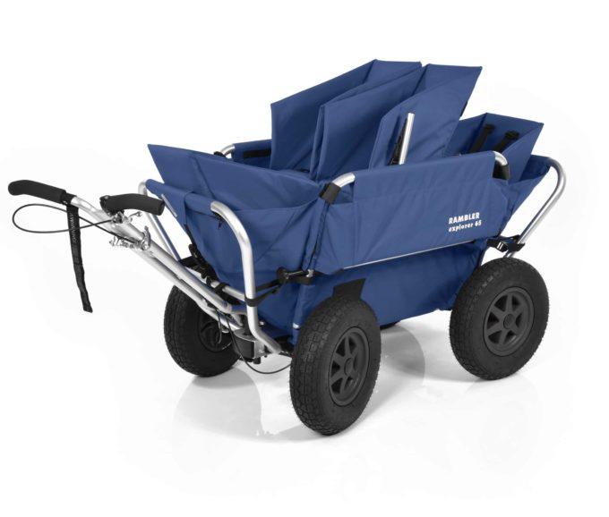 Rambler Explorer 65 (für 4 Kinder) + 2 Kindersitze + 1 Duo-Babysitz + Hinterer Rahmen 13