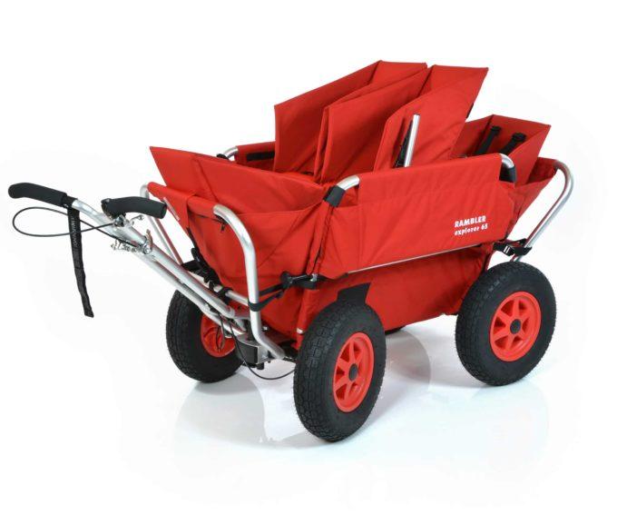 Rambler Explorer 65 (für 4 Kinder) + 2 Kindersitze + 1 Duo-Babysitz + Hinterer Rahmen 2
