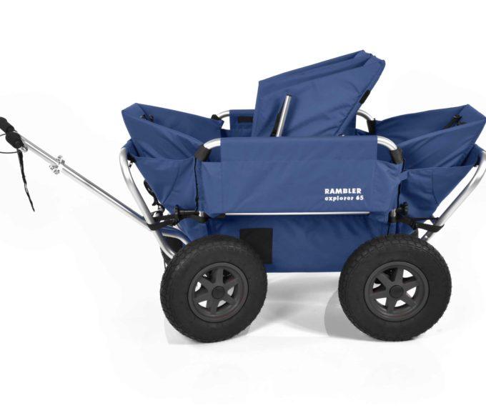 Rambler Explorer 65 (für 4 Kinder) + 2 Kindersitze + 1 Duo-Babysitz + Hinterer Rahmen 16