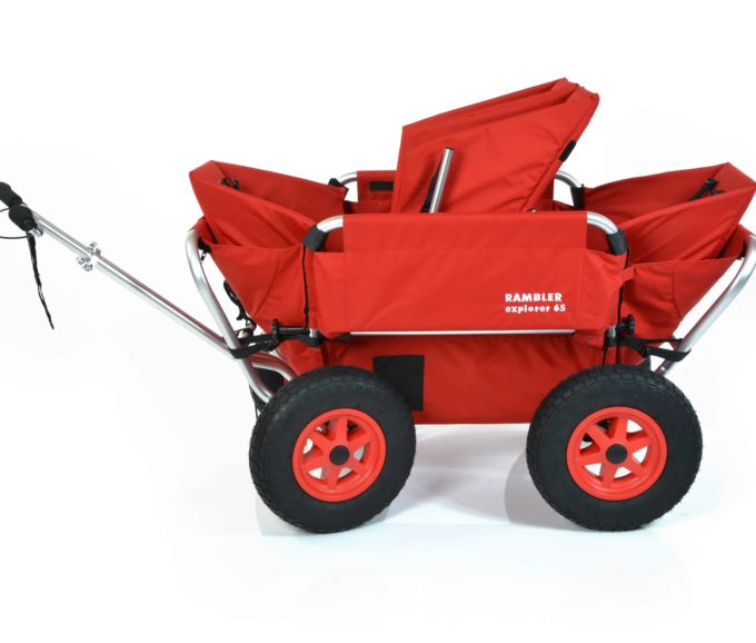 Rambler Explorer 65 (für 4 Kinder) + 2 Kindersitze + 1 Duo-Babysitz + Hinterer Rahmen 5