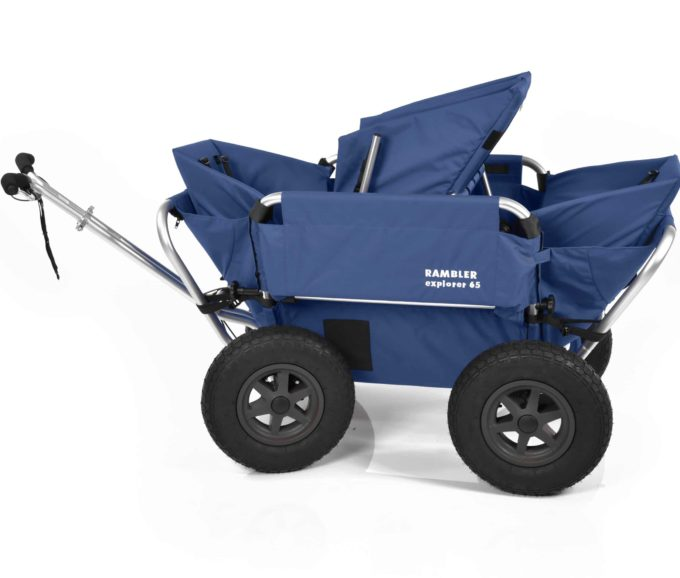 Rambler Explorer 65 (für 4 Kinder) + 2 Kindersitze + 1 Duo-Babysitz + Hinterer Rahmen 17